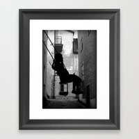 The Swing (thinking) Framed Art Print