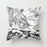 Secret Path / Original A… Throw Pillow