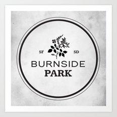 Burnside Park Art Print