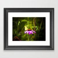Purple Cone Framed Art Print