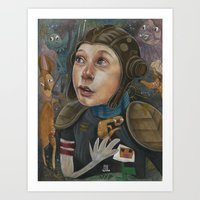 IMAGINARY ASTRONAUT Art Print