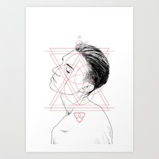 Face Facts I Art Print