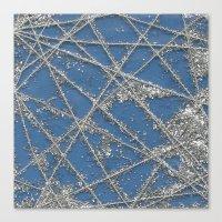 Sparkle Net Blue Canvas Print