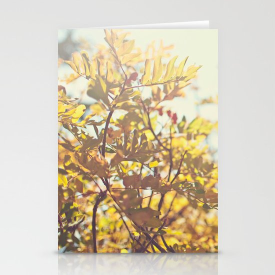 Fading Fall Leaves Stationery Card