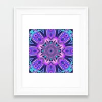The Floral Kaleidoscope … Framed Art Print