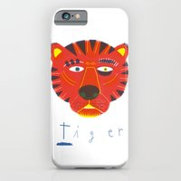 iPhone & iPod Case featuring t i g e r by Anne Wenkel // Illustration & Fine Art