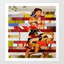 Glitch Pin-Up: Emma Art Print