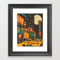 Time Square Framed Art Print