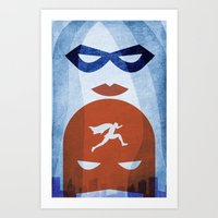 Nightly Patrol Superhero… Art Print