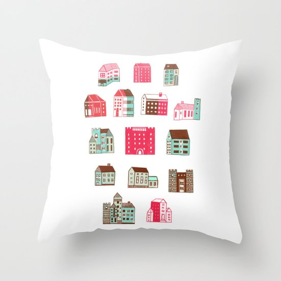 Places to rent Throw Pillow