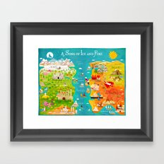 A Map of Ice and Fire Framed Art Print