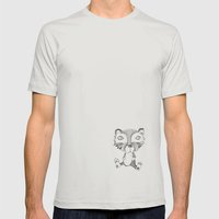 Vincent Mens Fitted Tee Silver SMALL