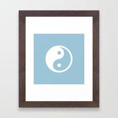 Yin Yang Aquamarine Framed Art Print