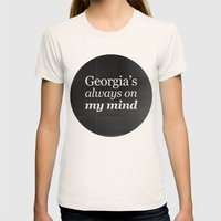 Georgia's always on my mind Womens Fitted Tee Natural SMALL