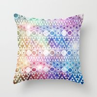 Tribal Stardust  Throw Pillow