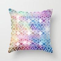 Tribal Stardust  Throw Pillow