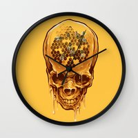 skull of honey Wall Clock