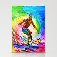 Surf Style Stationery Cards