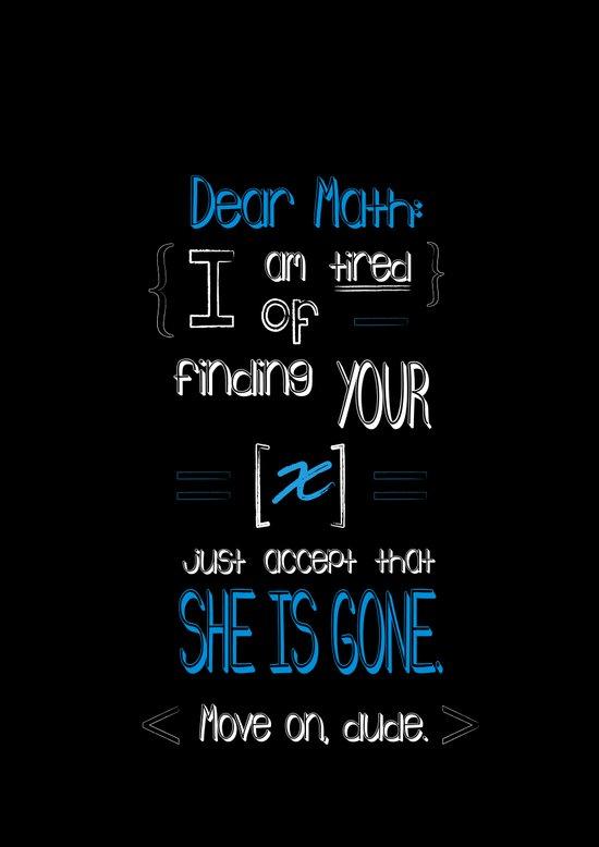 Dear Math (blue)  Art Print