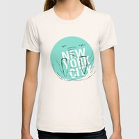 new york city Womens Fitted Tee Natural SMALL