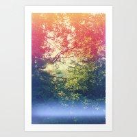 Through The Looking Glas… Art Print