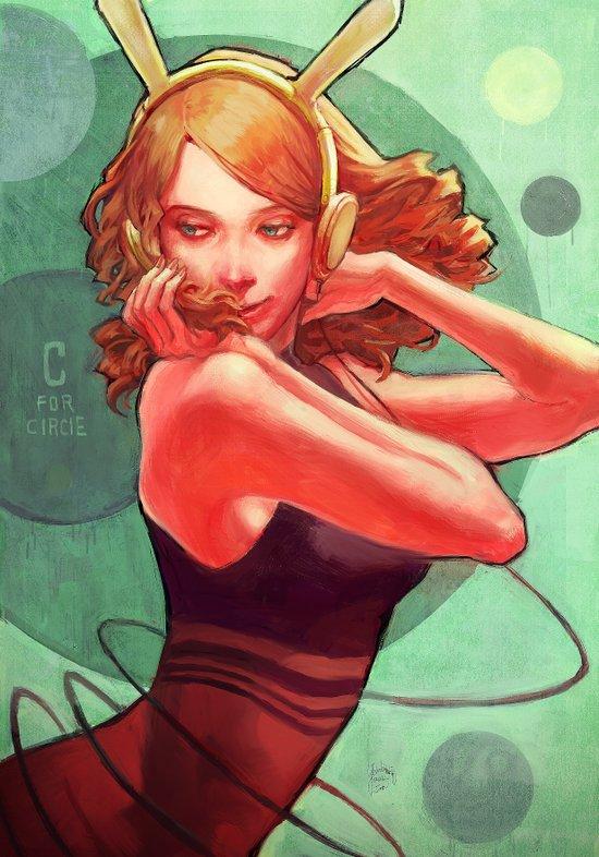 C for Circle Art Print