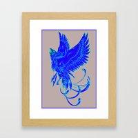 Phoenix on Fire Framed Art Print
