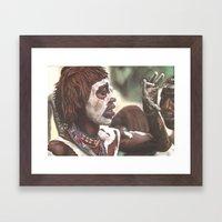 Face Painting Framed Art Print