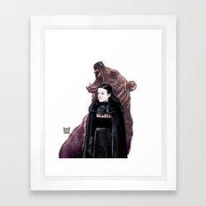 LADY BEAR Framed Art Print