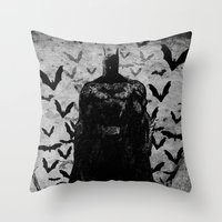 The night rises B&W Throw Pillow