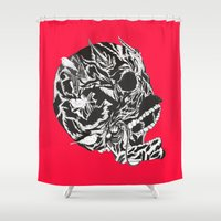 Skull Moustache Shower Curtain
