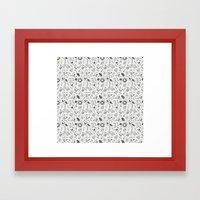 Doodle Birds Seamless Pa… Framed Art Print