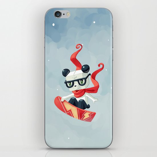 Snowboarding iPhone & iPod Skin