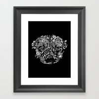 Botanical Garden Pug Framed Art Print