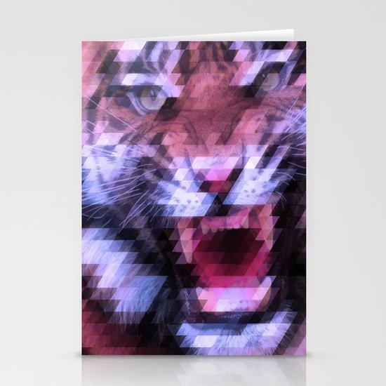 Pixel Tiger Stationery Card