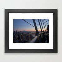 Gazing On Mt. Rainier Framed Art Print