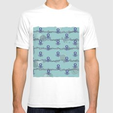 Octopus's garden SMALL White Mens Fitted Tee