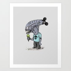 Happiest Space On Earth Art Print