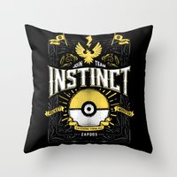 An Instinctual Decision Throw Pillow