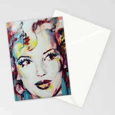 Merylin Monroe cinema and pop culture icon - portrait Stationery Cards