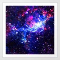 galaxy Art Prints featuring Galaxy by Matt Borchert