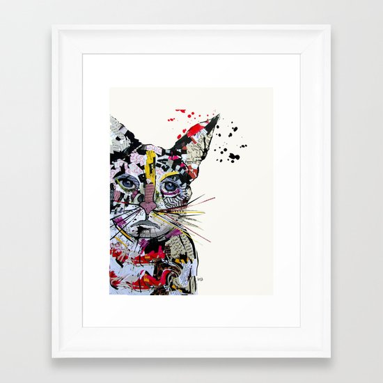 urban kitten Framed Art Print