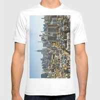 New York City from Tribeca. Mens Fitted Tee White SMALL