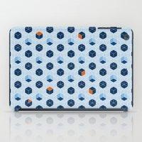 Blue Cubes iPad Case