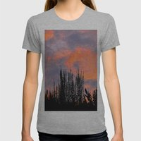 Sunset Silhouettes Womens Fitted Tee Athletic Grey SMALL