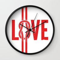 Love Knot (Red) Wall Clock