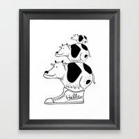 Cow Baby Framed Art Print