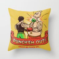 Punch'em Out Throw Pillow