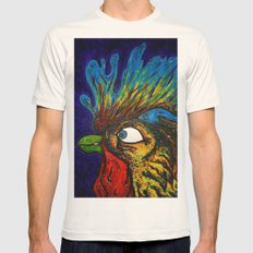Rooster, Gnarley Mens Fitted Tee Natural SMALL
