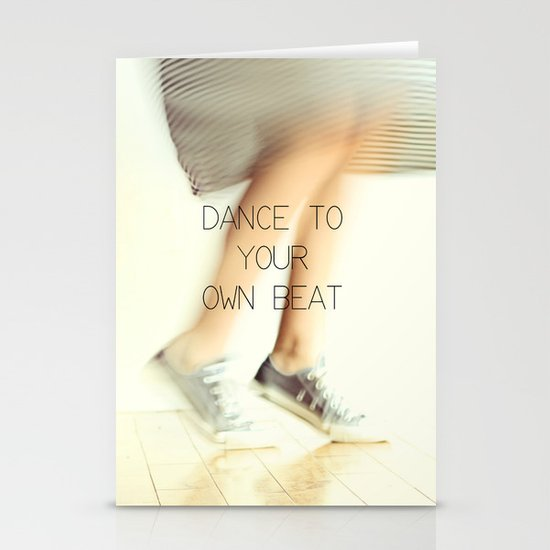 Dance to your own beat Stationery Card